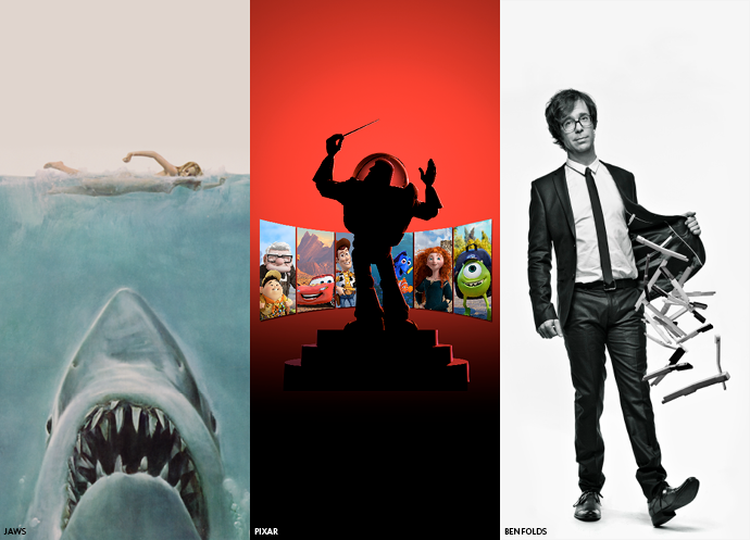 Jaws, Pixar, and Ben Folds