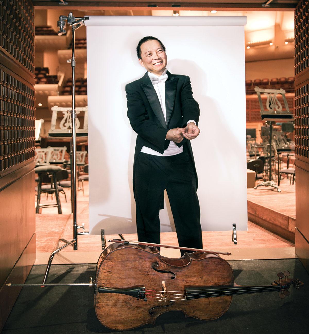 San Francisco Symphony cellist Amos Yang