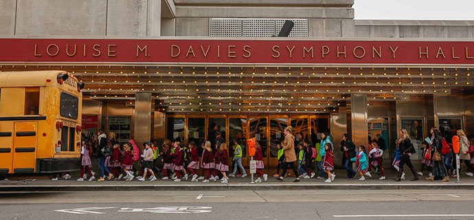 Children at Davies Symphony Hall