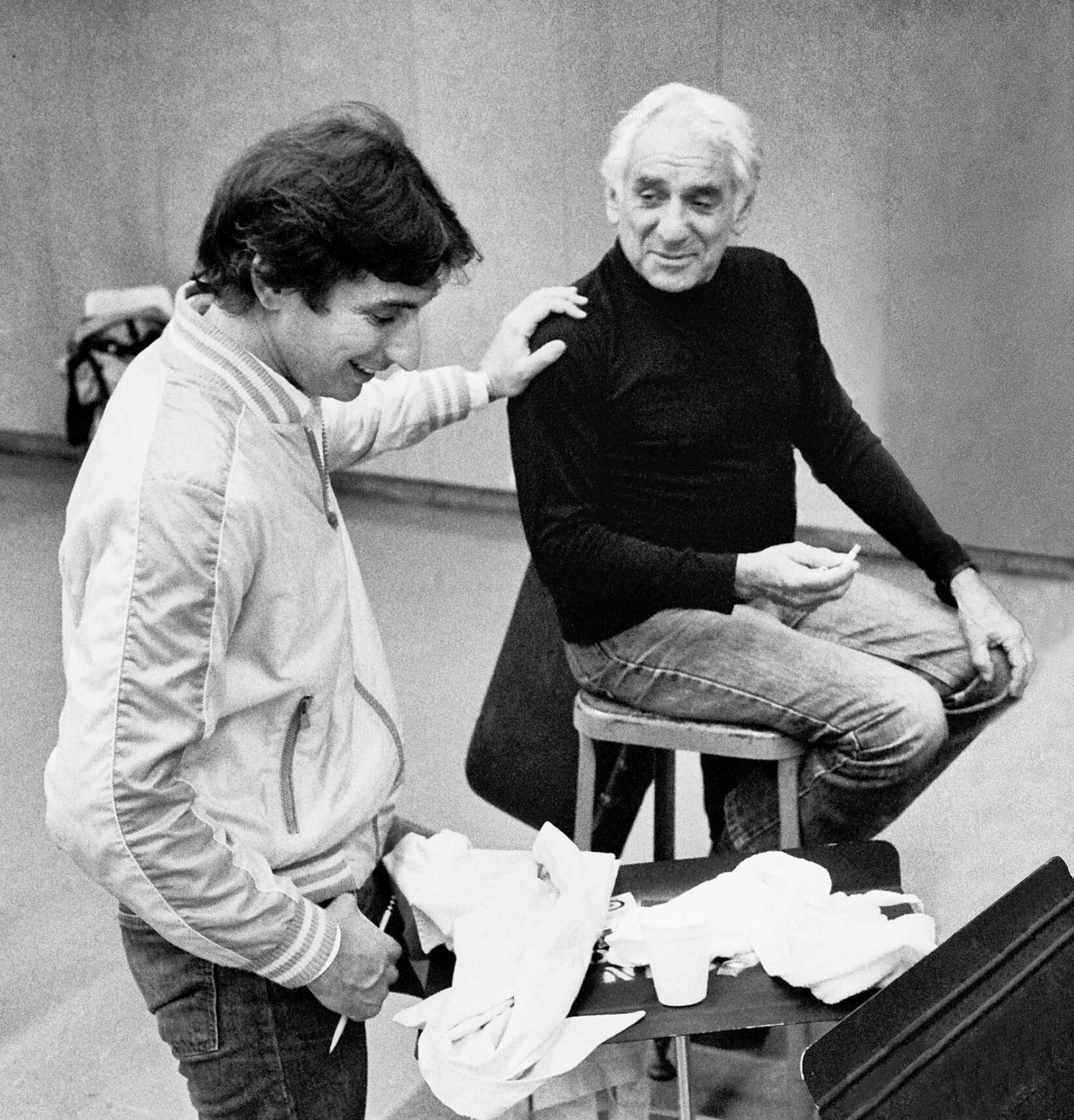Michael Tilson Thomas and Leonard Bernstein, 1983 © Robert Millard