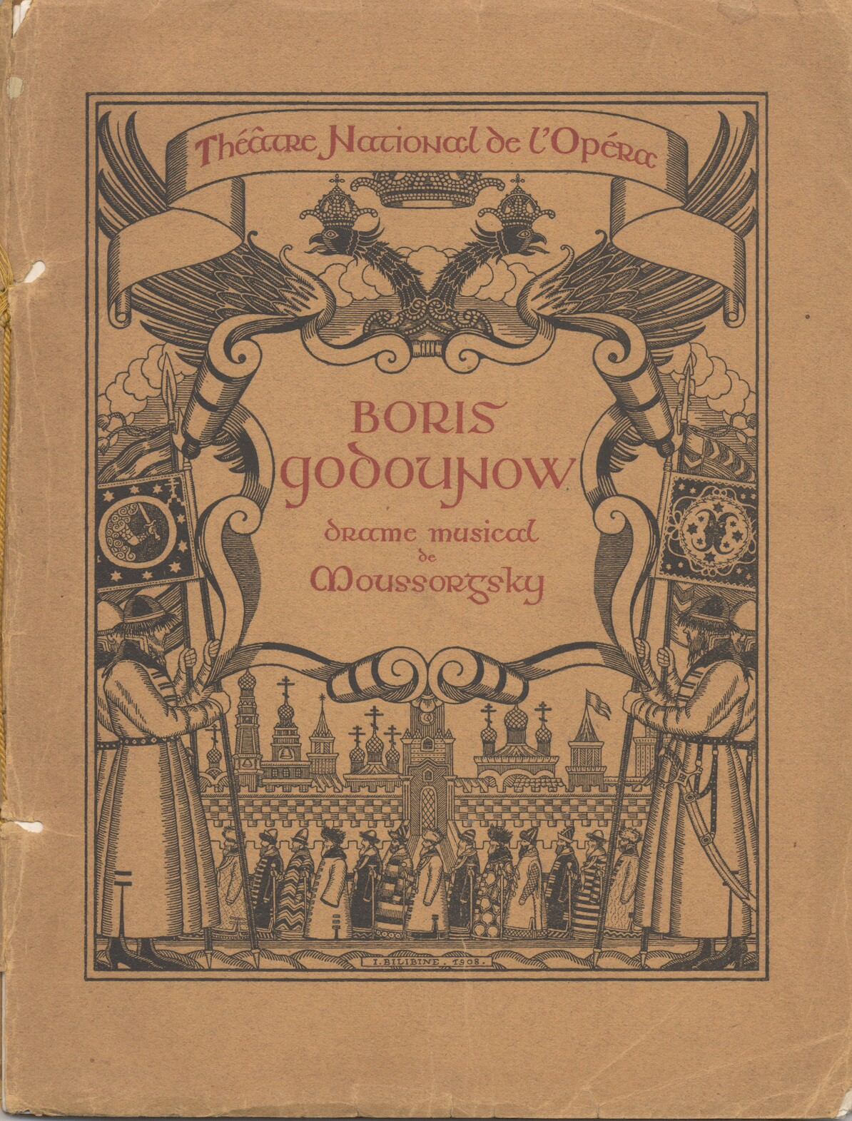 Cover page for Boris Godounov