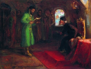 Boris Godunov with Ivan the Terrible