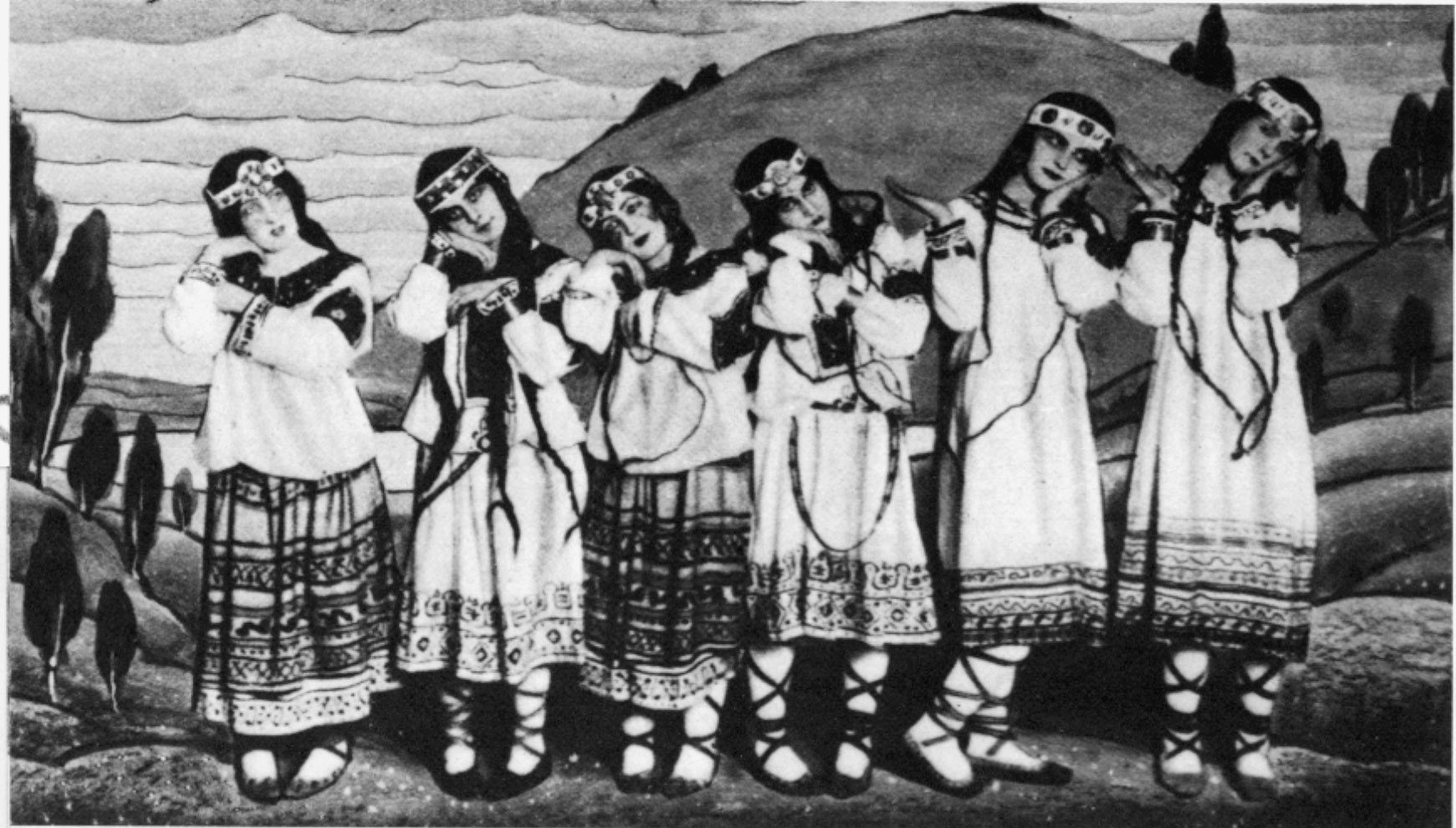 Dance of the Adolescent Girls in The Rite of Spring, 1913.
