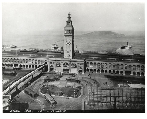 The SF Ferry Building in 1928