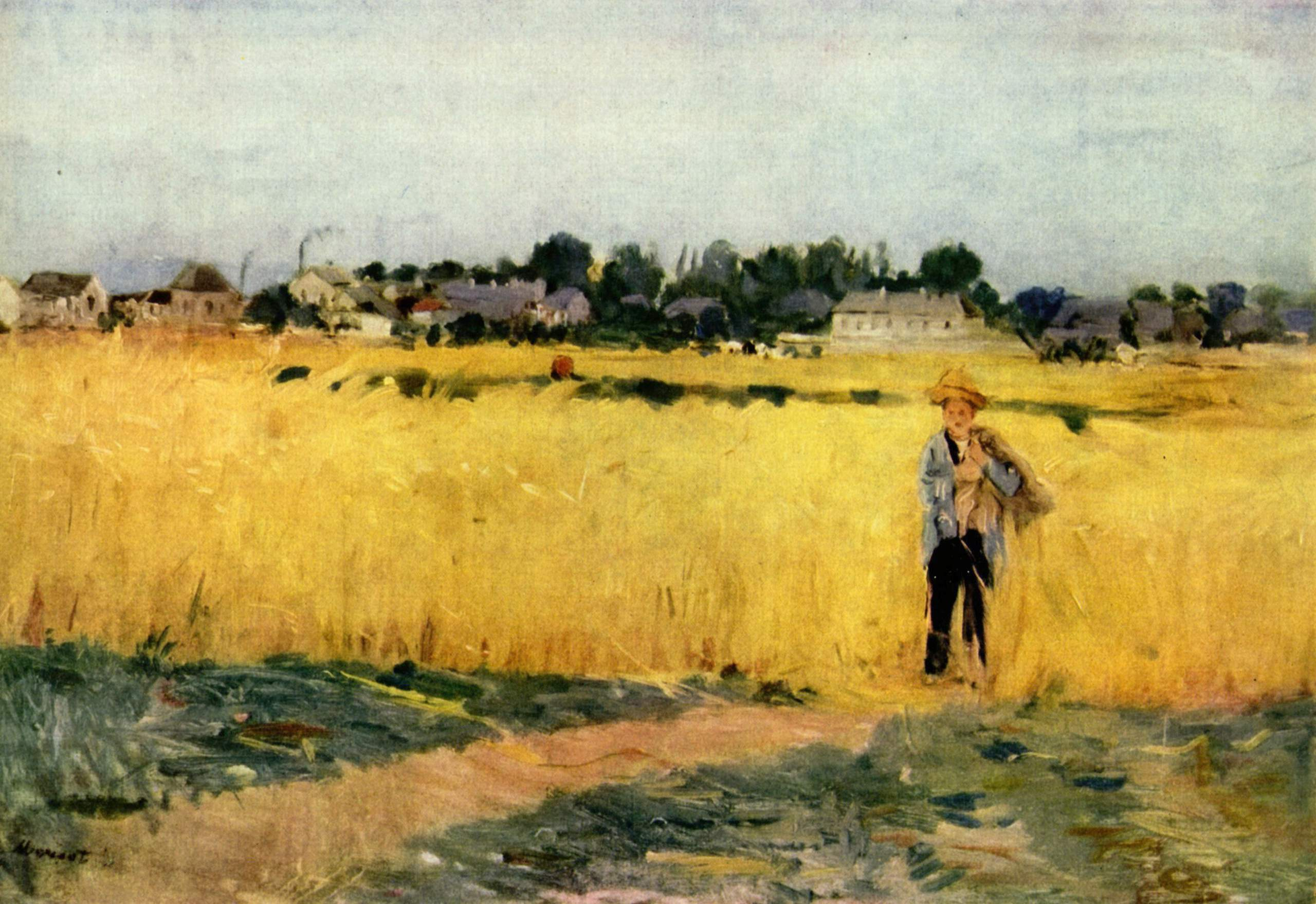 In the Wheat Field at Gennevilliers