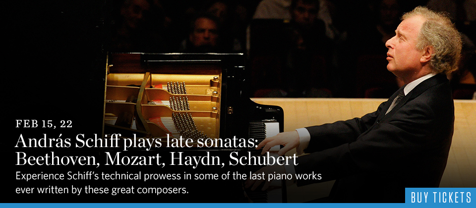 Andras Schiff plays late sonatas