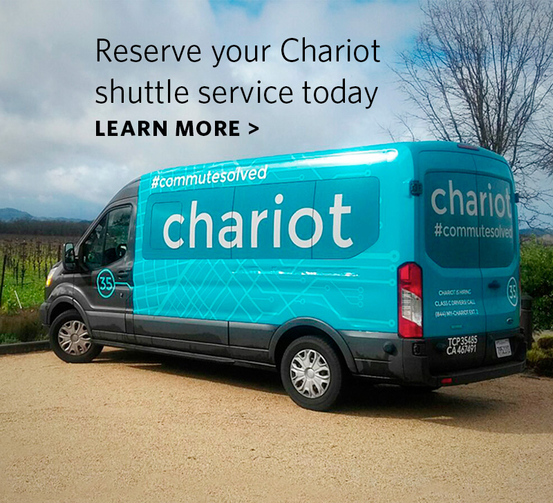 Click to learn more about our Chariot shuttle service.